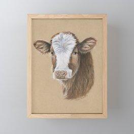 Go Vegan Calf Framed Mini Art Print