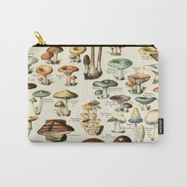 Vintage Mushroom & Fungi Chart by Adolphe Millot Carry-All Pouch