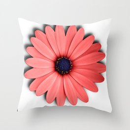 Coral Bloom Throw Pillow