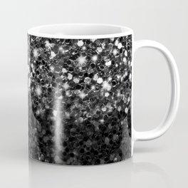 Black & Silver Glitter Gradient Kaffeebecher