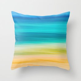 BVI Blues Throw Pillow