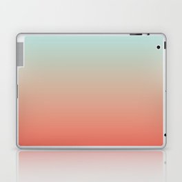Ombre Living Coral with Turquoise Laptop & iPad Skin