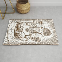 Ganesh: Brown Rug