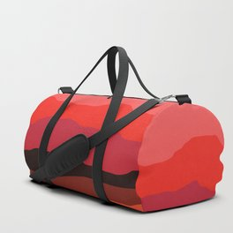 Abstract Mountains and Hills in Red Duffle Bag