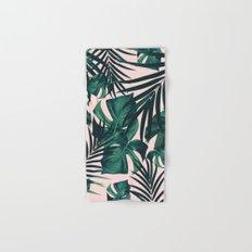 Tropical Jungle Leaves Pattern #5 #tropical #decor #art #society6 Hand & Bath Towel