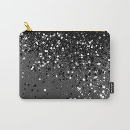 Dark Gray Black Lady Glitter #1 #shiny #decor #art #society6 Carry-All Pouch