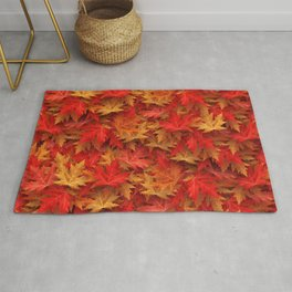 Autumn Case Fall Leaves Rug