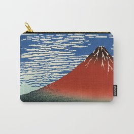 """Hokusai (1760–1849) """"Fuji, Mountains in clear Weather (South Wind, Clear Sky)(Red Fuji)"""" Carry-All Pouch"""