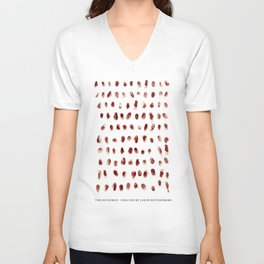The 100 - Fingerprints Unisex V-Neck