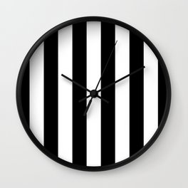Stripe Black And White Vertical Line Bold Minimalism Stripes Lines Wall Clock