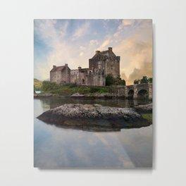 Eilean Donan Castle at sunrise Metal Print