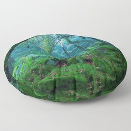Enchanted forest mood Floor Pillow