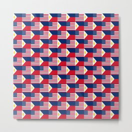 Mix of flag: philippines and Usa Metal Print