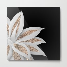 Agave Finesse Glitter Glam #6 #tropical #decor #art #society6 Metal Print