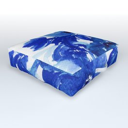 blue stillife Outdoor Floor Cushion