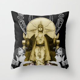 Of Things Long Past - The High Priestess Throw Pillow
