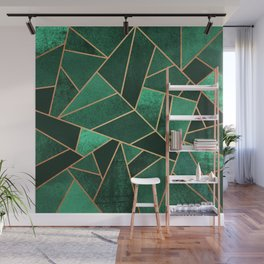 Emerald and Copper Wall Mural