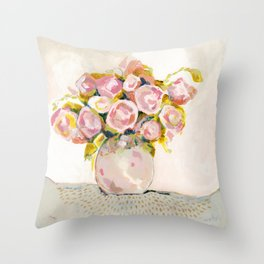 Always Choose Flowers Throw Pillow