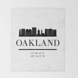 OAKLAND CALIFORNIA BLACK SILHOUETTE SKYLINE ART Throw Blanket