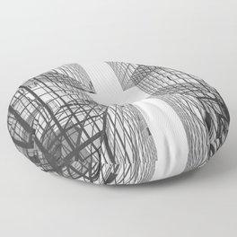 Black and White Skyscraper Floor Pillow