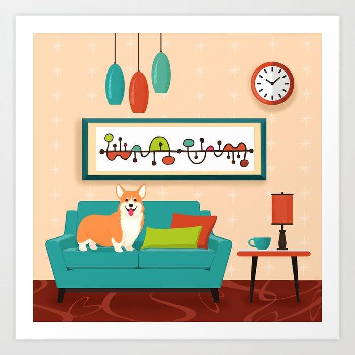A Corgi Makes A House A Home Kunstdrucke