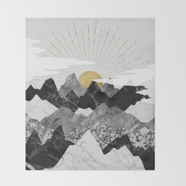 Sun rise Throw Blanket