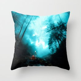 The dark side of the mirror Throw Pillow