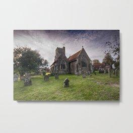 All Saints Wittersham Metal Print