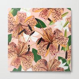 Tiger Lillies #illustration #botanical Metal Print