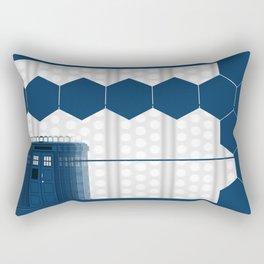 Tardis Art Blue Box Shadow Rectangular Pillow