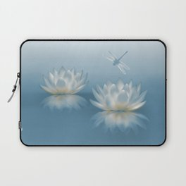 Blue Lotus and Dragonfly Laptop Sleeve