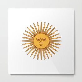 Sun Beam Face Metal Print