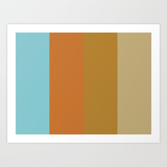 CODE : C(yan) O(chre) D(ark Goldenrod) E(cru) Art Print