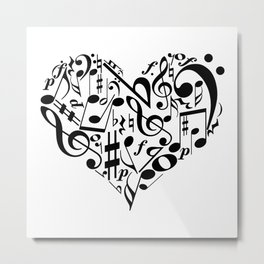Music love Metal Print