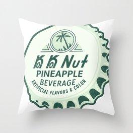 Vintage Ko Ko Nut Pineapple Soda Pop Bottle Cap Throw Pillow