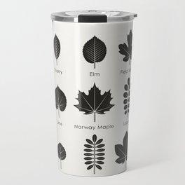 European Tree Leaves Travel Mug