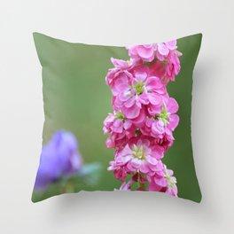 Snap Dragon Floral Pink Flower Throw Pillow