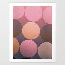 Pink Shadows Moon Art Print
