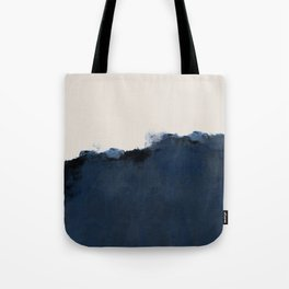 Abstract, blue, beige, indigo Tote Bag