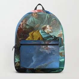 Saint Peter Invited to Walk on the Water - Francois Boucher Backpack