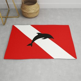 Diving Flag: Dolphin Rug