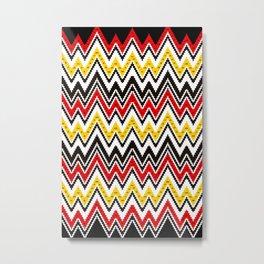 Ethno Buginese Sabbe Pattern 06 Metal Print