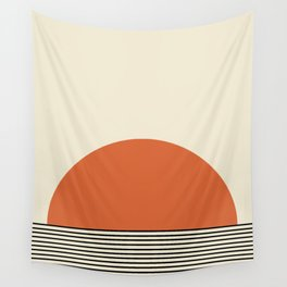 Sunrise / Sunset - Orange & Black Wall Tapestry