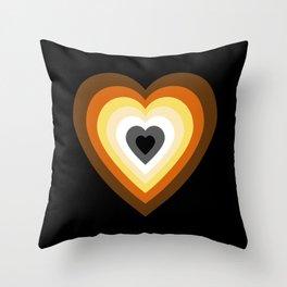 Bear Heart Throw Pillow