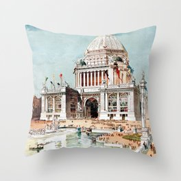 Vintage 1893 Chicago World's fair expo Throw Pillow