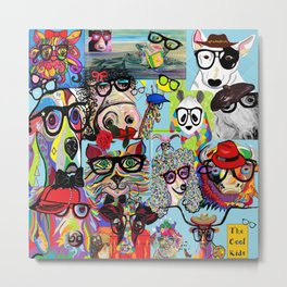 Hip Animals with Glasses . . . The Cool Kids! Metal Print