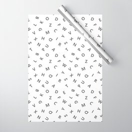 The Missing Letter Alphabet W&B Wrapping Paper