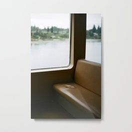 Empty Seat on the Ferry Metal Print