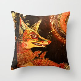 Bloodgold Throw Pillow