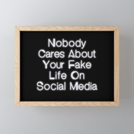 Nobody Cares... Framed Mini Art Print